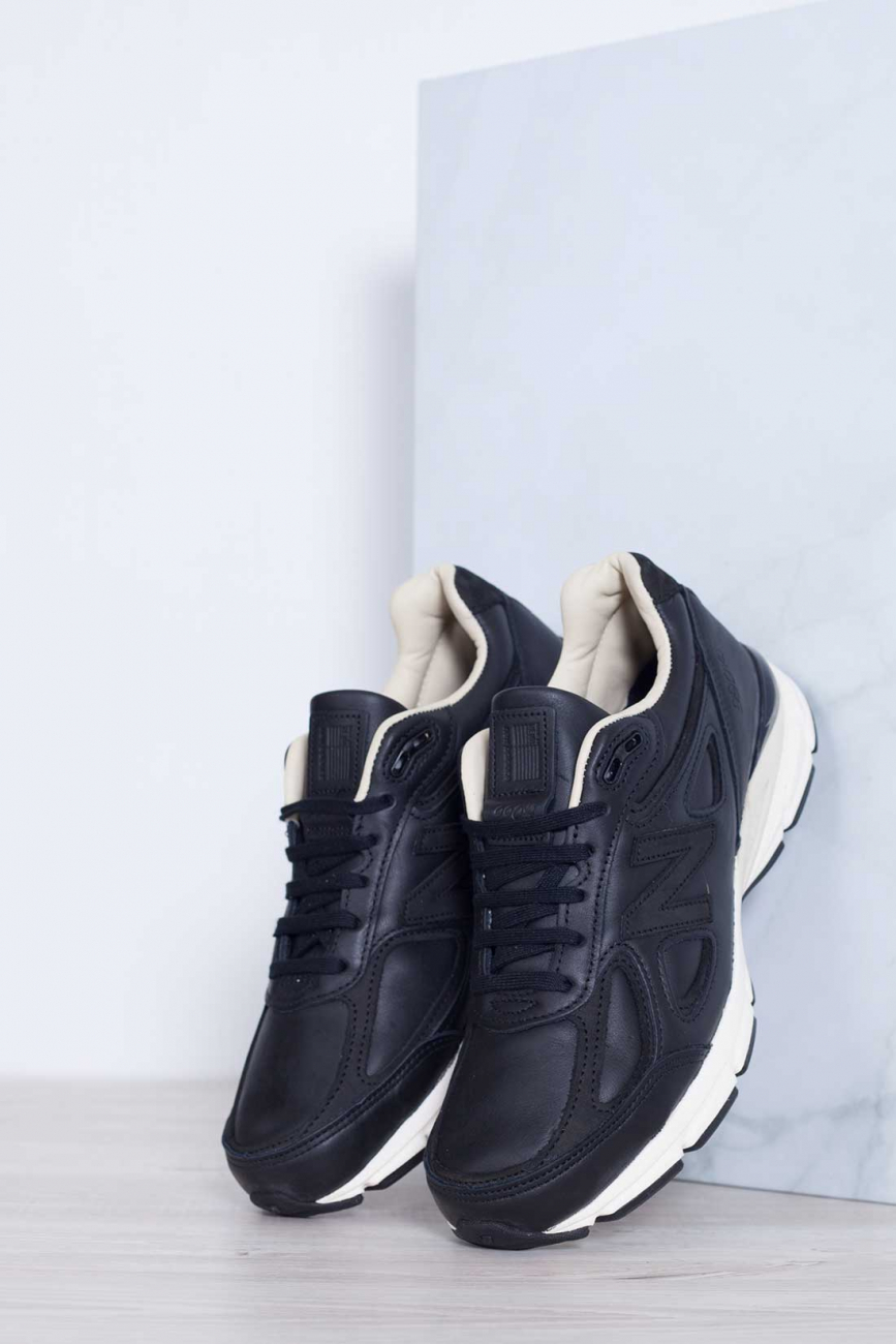 NEW BALANCE Uomo - Sneakers 990 Made in USA in pelle nera