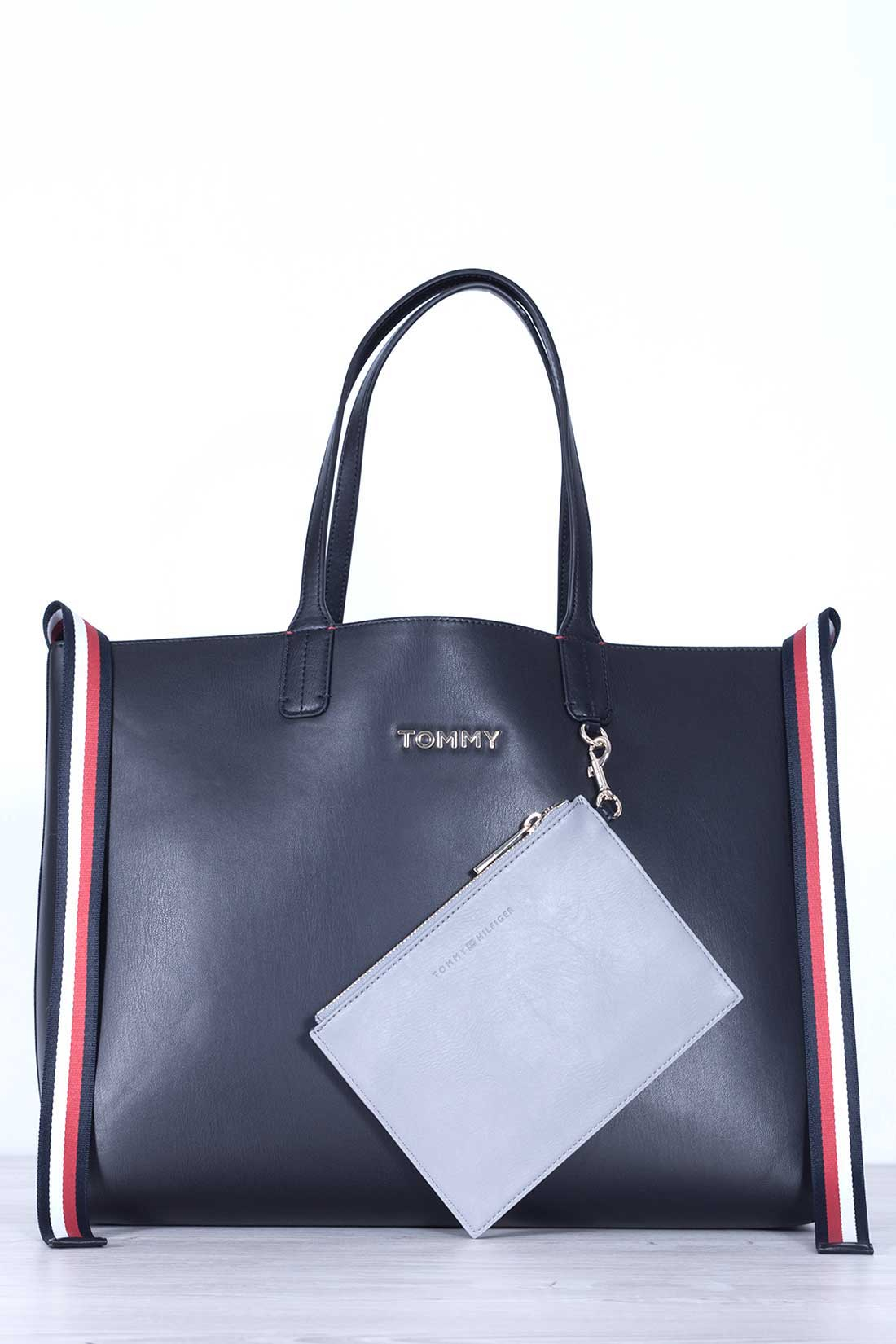 TOMMY HILFIGER Women's black iconic tote bag