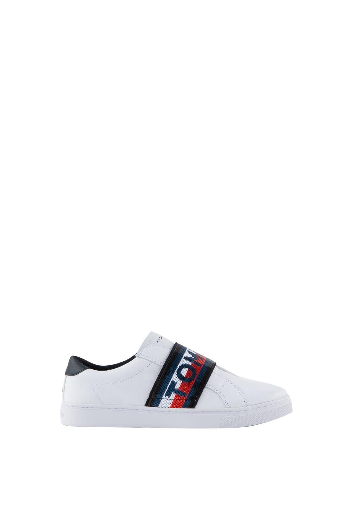 Sandy definite puppy  TOMMY HILFIGER - Sneakers donna slip on bianche con glitter - Push96.com