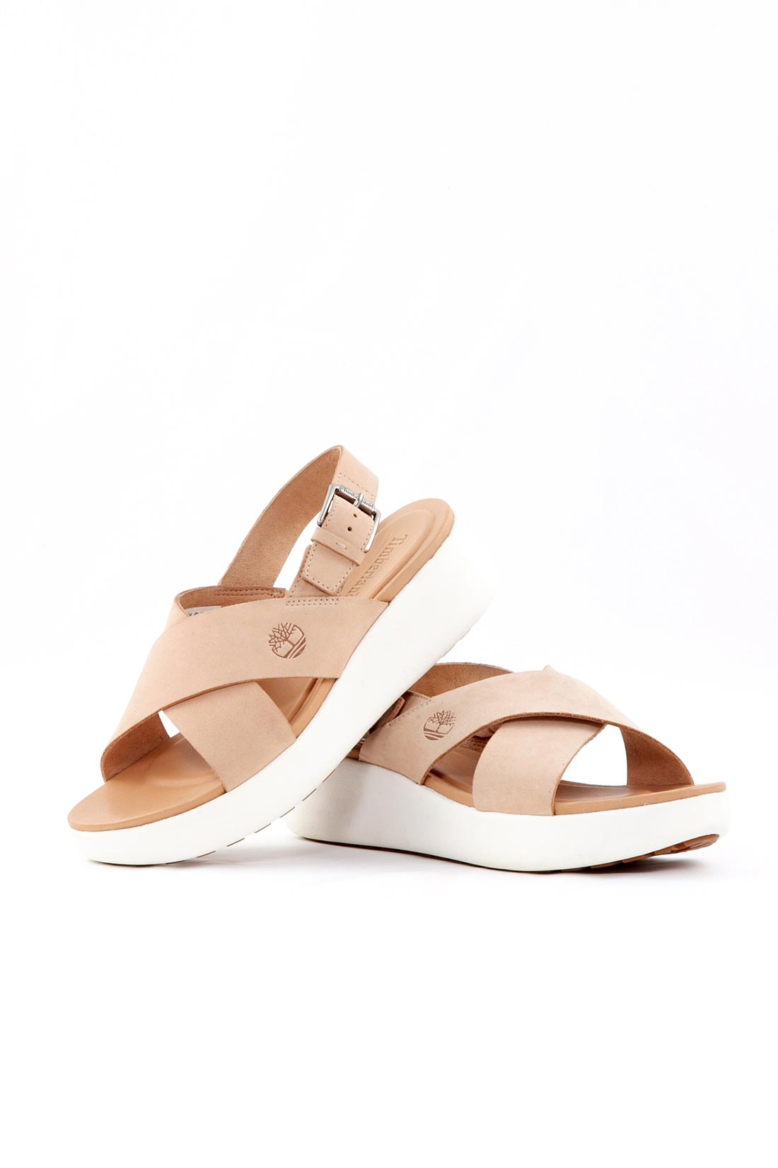 TIMBERLAND Sandalo donna Los Angeles Wind slingback in nubuck beige