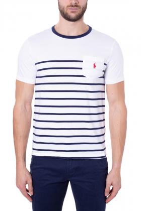 POLO RALPH LAUREN Uomo - T-Shirt slim-fit in jersey di cotone a righe