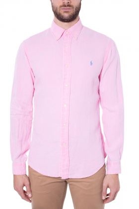 POLO RALPH LAUREN - Camicia uomo slim fit in lino