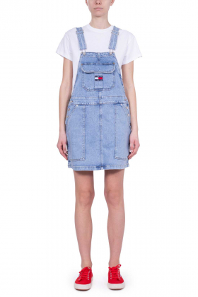 TOMMY JEANS - Abito salopette donna in denim
