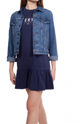 TOMMY JEANS - Abito T-shirt donna con volant