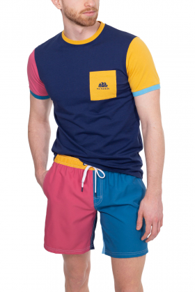 SUNDEK - T-shirt uomo colorblock