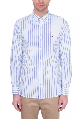 TOMMY HILFIGER - Camicia uomo preppy in cotone Oxford