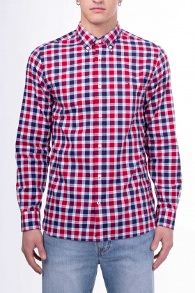 TOMMY HILFIGER - Camicia uomo Regular fit in Oxford check