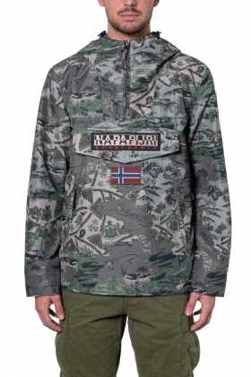 NAPAPIJRI - Giacca uomo Rainforest Pocket Summer stampata