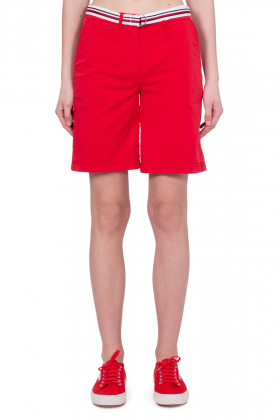 TOMMY HILFIGER - Shorts chino donna in cotone